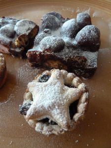 Mince pie and rocky road